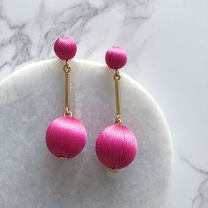 J. Crew pink drop earrings
